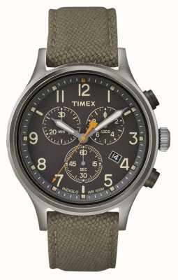 Timex Alliedクロノグリーンナイロンストラップ/ブラックダイヤル TW2R47200