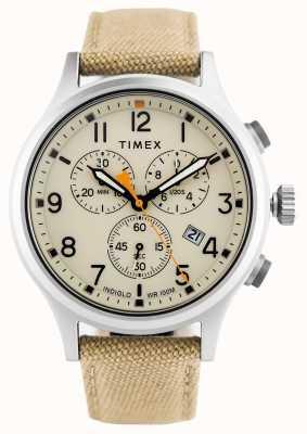 Timex Allied chronoカーキナイロンストラップ/ナチュラルダイヤル TW2R47300