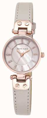 Anne Klein Womens lynn watch rise gold caseレザーストラップ AK/N1950RGTP