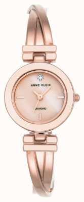 Anne Klein レディースレアローズゴールドトーンブレスレットホワイトダイヤル AK/N2622WTRG
