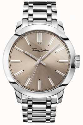 Thomas Sabo メンズ反逆の心時計ステンレススチールブレスレットグレーダイヤル WA0311-201-214-46