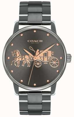 Coach レディースグランドブラックipメッキケース&ブレスレットローズゴールドプリント 14502924