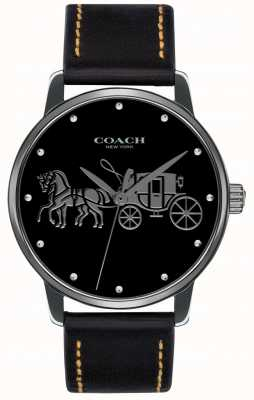 Coach レディースグランドブラックケース&ブラックレザーストラップ 14502974