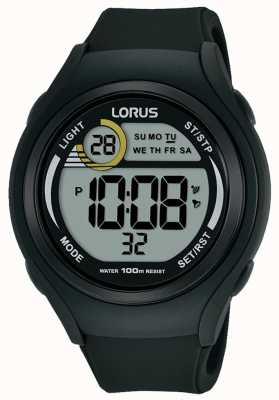 Lorus ユニセックスロアスゴムデジタルスポーツウォッチブラック R2373LX9