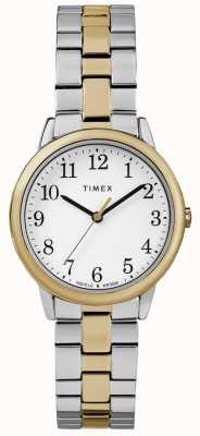 Timex 簡単なリーダーの女性の30ミリメートルステンレススチールの時計 TW2R58800