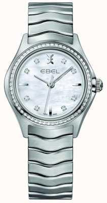 EBEL ウェーブ66ダイヤモンドセットクォーツ30ミリメートル真珠女性の時計の母 1216194