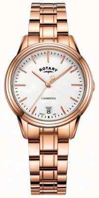 Rotary レディースcambridge watchローズゴールドトーンブレスレット LB05262/06