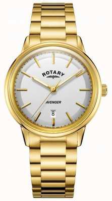 Rotary メンズアベンジャー腕時計ゴールドトーンのバレエ GB05343/02