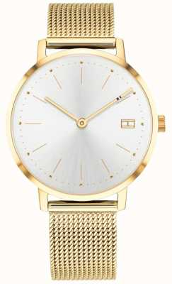 Tommy Hilfiger レディースpippa腕時計ゴールドトーンメッシュストラップ 1781927