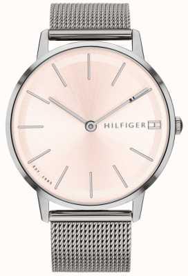 Tommy Hilfiger レディースpippa腕時計シルバートーンメッシュストラップ 1781935