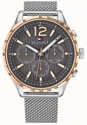 Tommy Hilfiger メンズギャビンクロノグラフ腕時計シルバースチールメッシュブレスレット 1791466