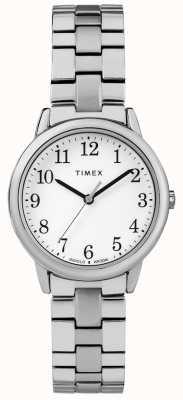 Timex レディース31ミリメートル遠征バンドステンレススチールホワイトダイヤル TW2R58700