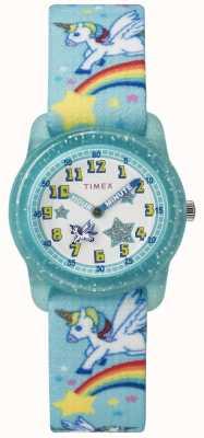 Timex 青少年アナログ28mmティールレインボーユニコーン TW7C256004E