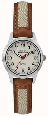 Timex フィールドミニタン革天然ダイヤル TW4B11900