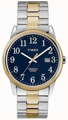 Timex メンズ38ミリメートル遠征バンド2トーンステンレススチールブレスレット TW2R58500