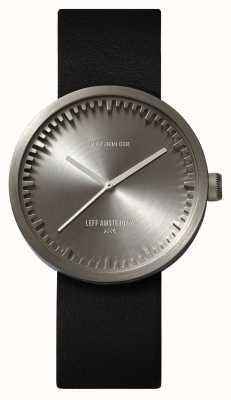 Leff Amsterdam チューブ腕時計d38スチールケースブラックレザーストラップ LT71001