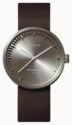 Leff Amsterdam チューブ腕時計d38スチールケースブラウンレザーストラップ LT71002