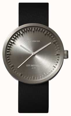 Leff Amsterdam チューブ時計d42スチールケースブラックレザーストラップ LT72001