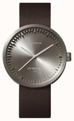 Leff Amsterdam チューブ時計d42スチールケースブラウンレザーストラップ LT72002
