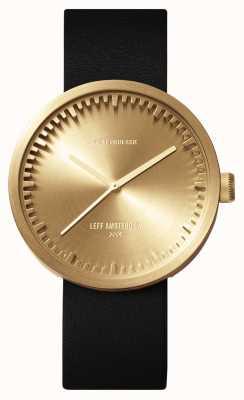 Leff Amsterdam チューブ時計d42真ちゅうケースブラックレザーストラップ LT72021