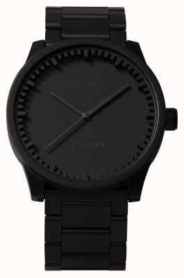 Leff Amsterdam チューブ腕時計s38ブラックケースブラックブレスレット LT71102