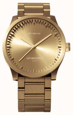 Leff Amsterdam チューブ腕時計s38ブラスケースブラスブレスレット LT71103