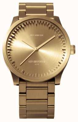 Leff Amsterdam チューブ腕時計s42ブラスケース真鍮ブレスレット LT72103