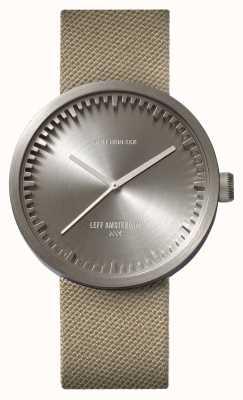 Leff Amsterdam チューブ時計d42スチールケースサンドコーデュストラップ LT72003