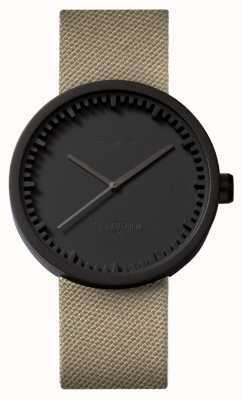 Leff Amsterdam チューブ腕時計d42ブラックケースサンドコーデュストラップ LT72013