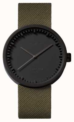 Leff Amsterdam チューブウォッチd42ブラックケースグリーンコーデュラストラップ LT72014