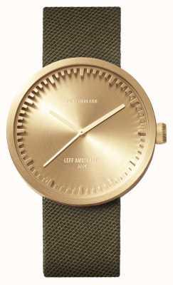 Leff Amsterdam チューブ時計d42真ちゅうケースグリーンコーデュラストラップ LT72024