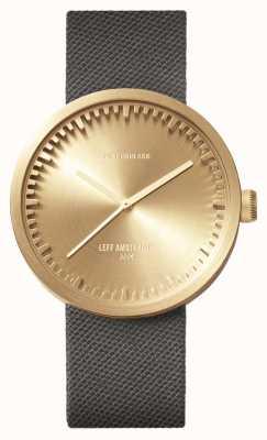 Leff Amsterdam チューブ時計d42真ちゅうケースグレーコーデュラストラップ LT72025