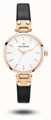 Mockberg シジッドプチホワイトストラップホワイトダイヤル MO201