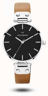 Mockberg Weraブラックブラウンストラップブラックダイヤル MO112