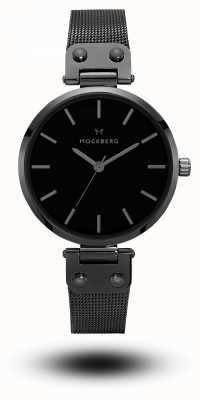 Mockberg リオブラックpvdメッキブレスレットブラックダイヤルメッキ MO305