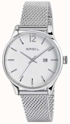 Breil 自動contempoステンレス鋼3ハンドホワイトダイヤル TW1567