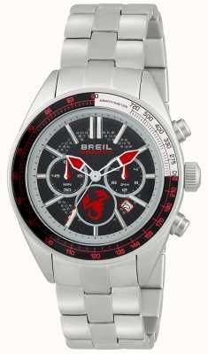 Breil Abarthステンレススチールクロノグラフブラック&レッドダイヤル TW1692