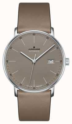 Junghans 自動茶色の革ストラップを形成する 027/4832.00