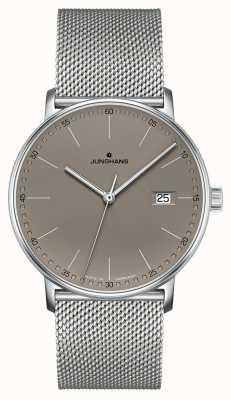 Junghans フォームクォーツグレーの文字盤時計 041/4886.44