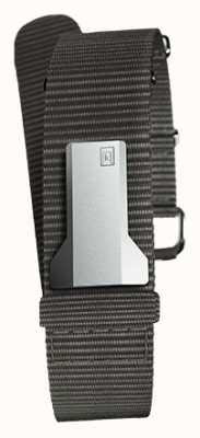 Klokers Klink 03ブラックテキスタイルシングルストラップのみ20mm幅230mm KLINK-03-MC3