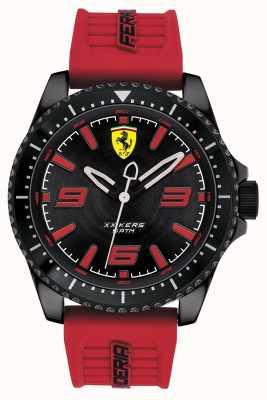 Scuderia Ferrari Xx kersブラックダイヤルレッドラバーストラップ 0830498