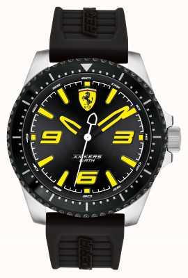 Scuderia Ferrari Xx kersブラックダイヤルブラックIPコートケースブラックラバーストラップ 0830487