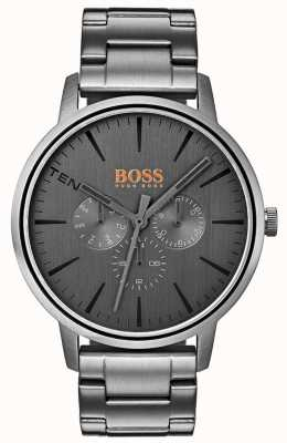 Hugo Boss Orange メンズコペンハーゲン日&日付表示グレーダイヤルipコート 1550068