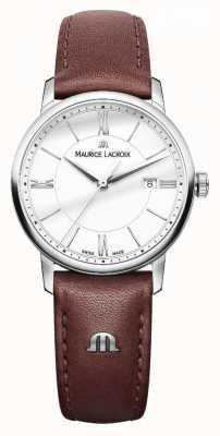 Maurice Lacroix レディースelirosブラウンレザーストラップシルバーdialladies EL1094-SS001-110-1