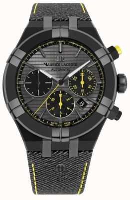 Maurice Lacroix 限定版aikon 'chase your watch'ブラックストラップ AI6018-PVB01-331-1