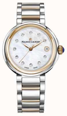 Maurice Lacroix 女性のfiabaパールダイヤルの2つのトーンのブレスレットの母 FA1007-PVP13-170-1