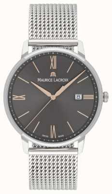 Maurice Lacroix Mens elirosメッシュブレスレットブラックダイヤルゴールドアクセント EL1118-SS002-311-1