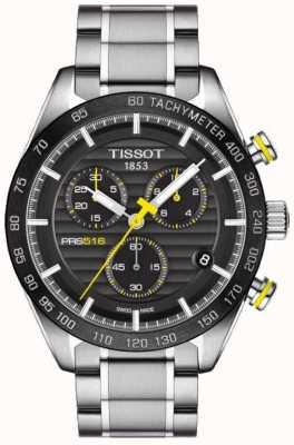 Tissot メンズprs 516クロノグラフブラックダイヤルステンレススチールブレスレット T1004171105100