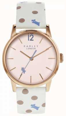 Radley レディースビンテージドッグドット腕時計ピンクダイヤル RY2566