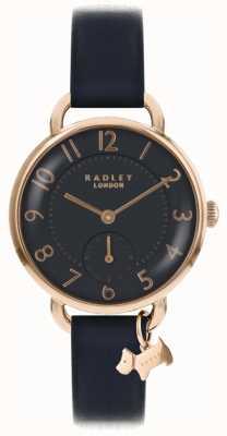 Radley レディースサウスウォークパークウォッチブラックレザーストラップ RY2548
